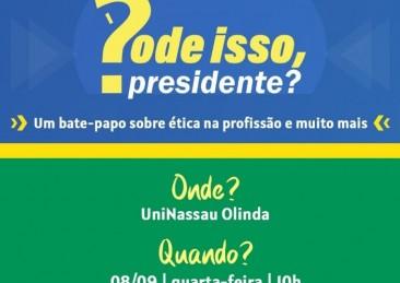 Alunos da UNINASSAU Olinda, na Região Metropolitana do Recife, conferem amanhã (08/09), às 10h, uma palestra do