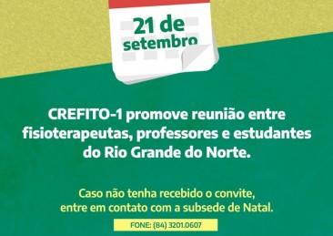 diálogos com o CREFITO-1 acontece nesta terça-feira (21/09)